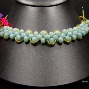 Amazonite Faceted Neckbrace Combo Flowers