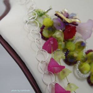 Beautifully Beaded Sinox Crystals and Flowers Necklace