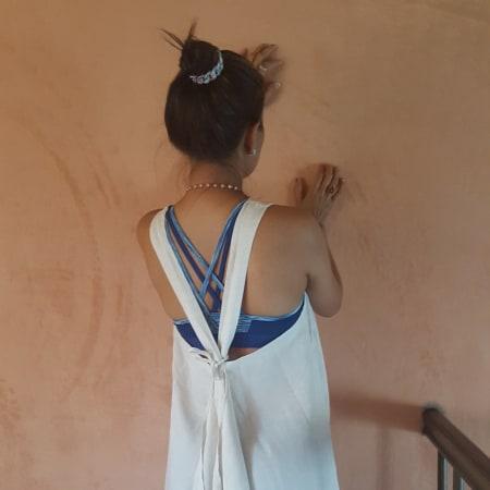 Beige Linen Dress
