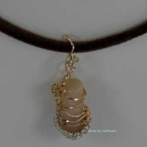 Cute Little Candle Opal Pendant
