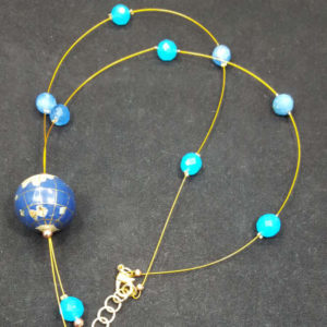 Earth Blue Quartz Bead Necklace