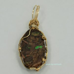 Virgin Valley Wood Opal Pendant
