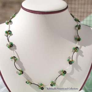 Wavy Green Seeds Beads Necklace